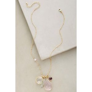 Anthropologie Torchlight Charm Necklace Rose